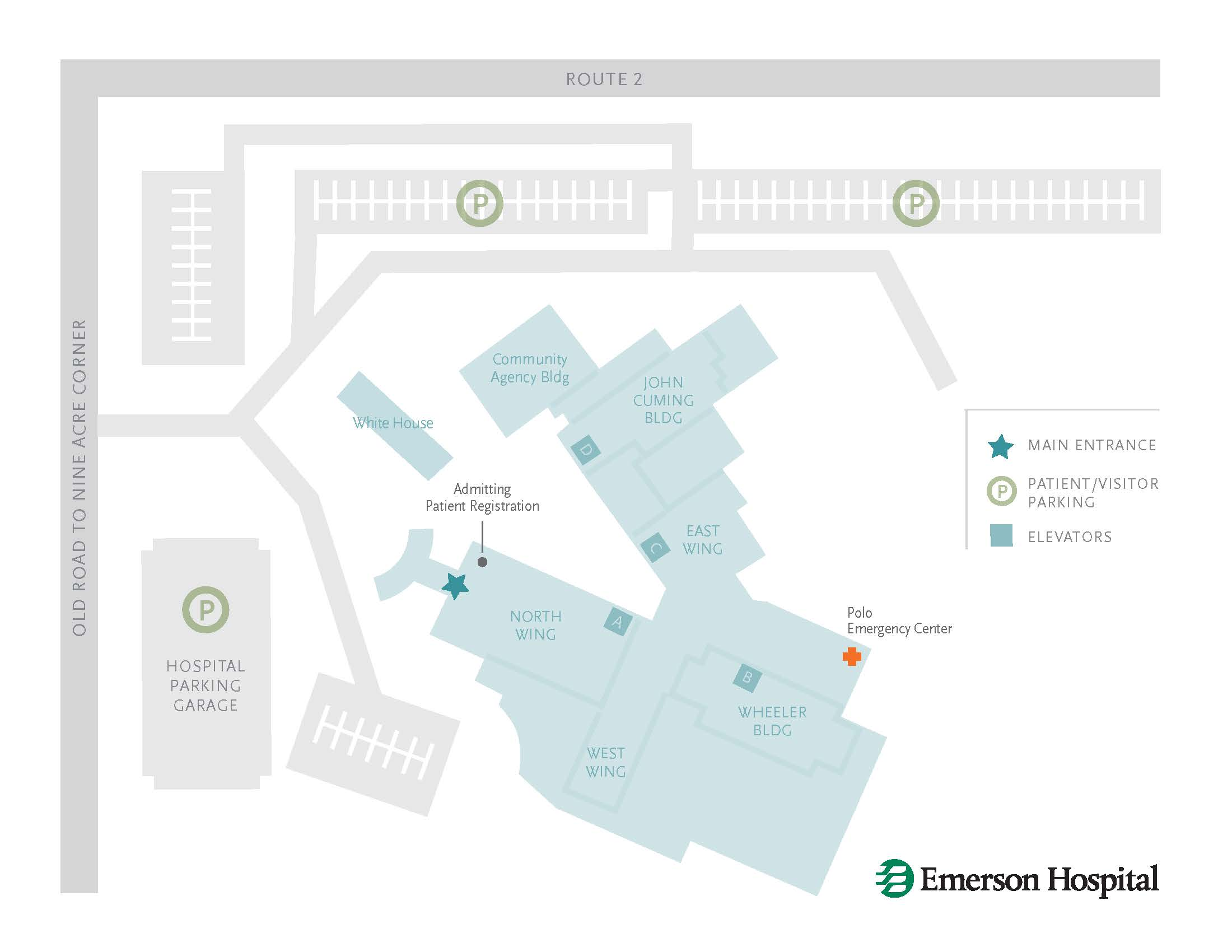 Emerson Hospital Campus Map